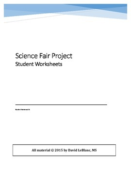 Science Fair complete program upper elementary (student wo