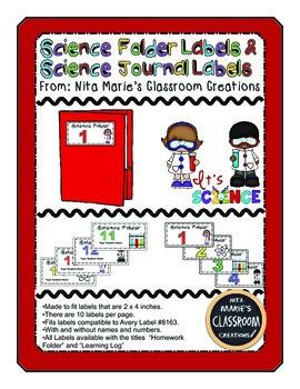 Science Folder Labels (Editable)