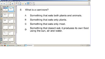 Science, Food Chains, Smart board Senteo Quiz, Reivew SOL prep