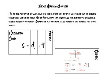 Science Formulas Booklets
