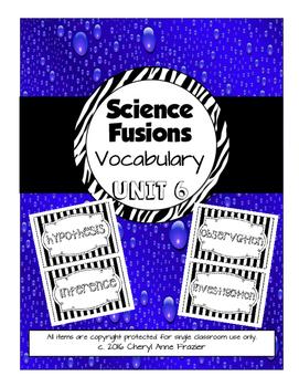 Science Fusion Unit 6 Vocabulary - 4th Grade