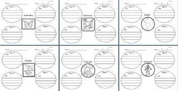 Science: Graphic Web Organizers