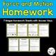 Science Homework Bundle