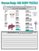 Science Human Body (Puzzle and Internet / Webquest)