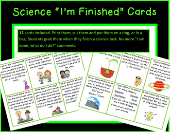Science Task Cards for ANY grade or Class!
