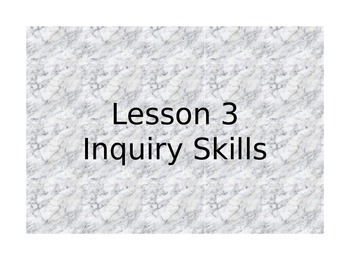 Science Inquiry Skills ISN