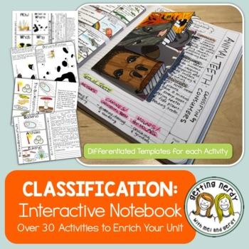 Classification - Science Interactive Notebook Activities