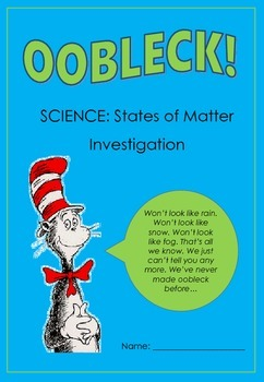 Science Investigation: Oobleck