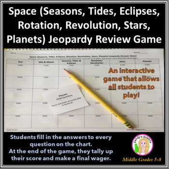 Science Jeopardy 4 Earth/Space