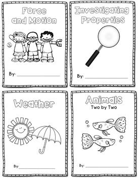 Science Journal Bundle - Properties, Weather, Animals