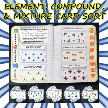 Science Journal: Element, Compound, and Mixture Card Sort