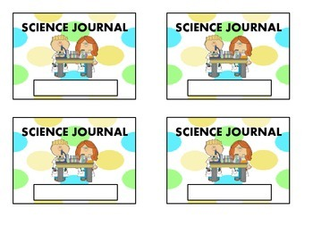Science Journal Label with Name or Without Name