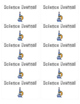 Science Journal Labels- Microscope Themed