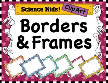 Science Kids Clipart: Borders & Frames - Set #2