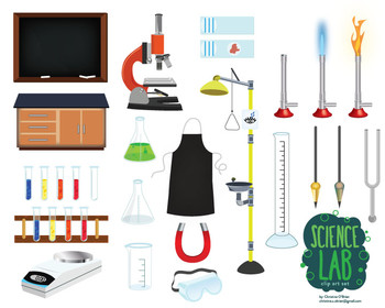Science Lab Tools Clip Art Set