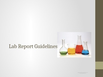 Science Lab Report Guidelines, with Fill-in-the-Blank option