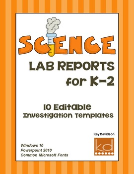 Science Lab Reports for K-2