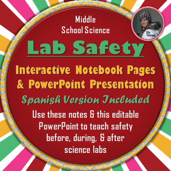 Science Lab Safety PowerPoint with Interactive Notebook Pages