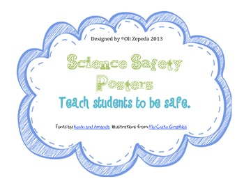 Science Lab Safety- Safety Rules Posters