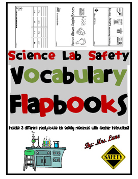 Science Lab Safety Vocabulary Flapbooks