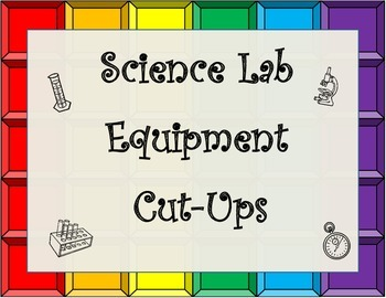 Science Laboratory Tools(Lab Equipment) Cut Up for Journal