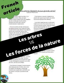 Science: Les forces: Article sur les arbres  *FRENCH*