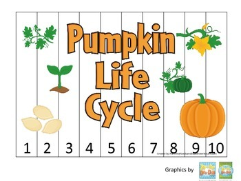 Science Life Cycle of a Pumpkin Number Sequence Puzzle 1-1