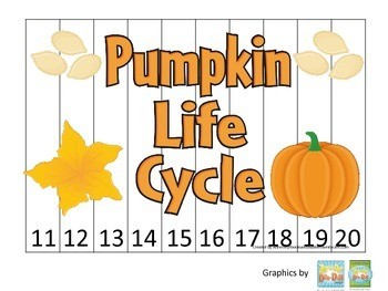 Science Life Cycle of a Pumpkin Number Sequence Puzzle 11-