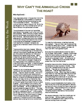 Science Literacy Articles: Informational Texts -  MASTER S