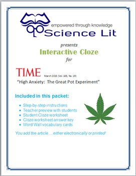 Science Literacy Interactive CLOZE:  The Effects of Legali