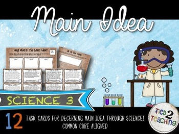 Science Main Idea Task Card Activity Pack 3
