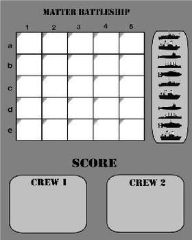 Science Matter Battleship SMARTboard Game for 5th Grade VA