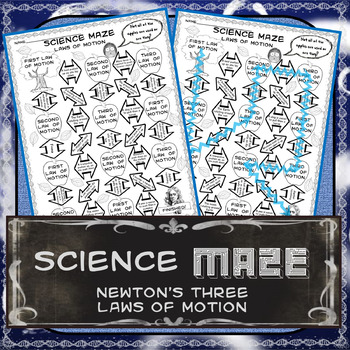 Science Maze Newton's Three Laws of Motion