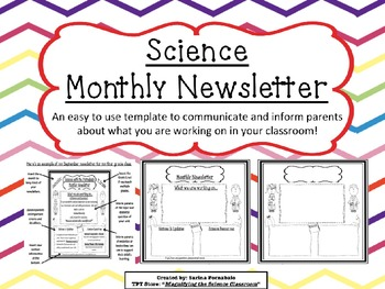 Science Monthly Newsletter Editable Templates