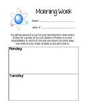 Science Morning Work Sheet