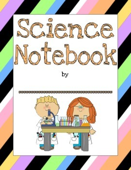 Science Notebook Cover Sheet