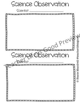 Science Observation Form Packet