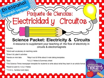 Science Packet: Circuits & Electricity IN SPANISH (Circuit