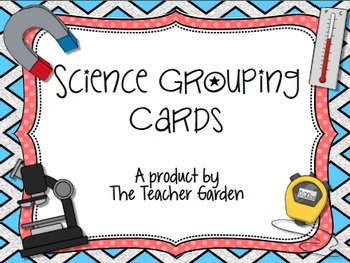 Science Partner Puzzle Cards for Easy Student Grouping