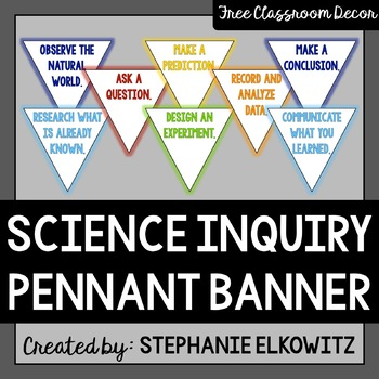 Science Pennant Banner: FREE Back-to-School Classroom Decor!