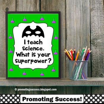 Science Teacher Superpower Poster Teacher Appreciation Wee