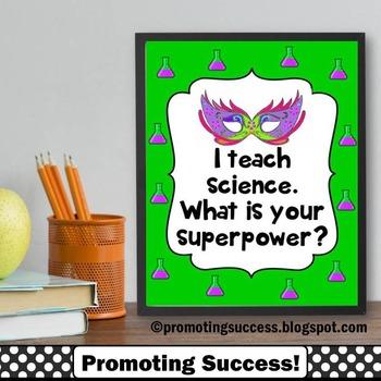 Science Teacher Gift for Teacher Appreciation Week Superpo