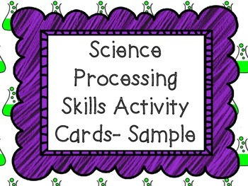 Science Processing Activity Card - Sample
