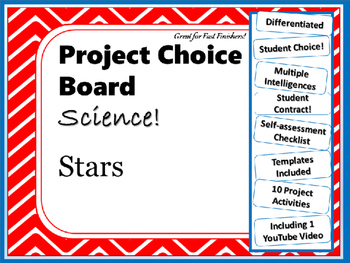 Science Project Choice Board: Stars- 10 Projects