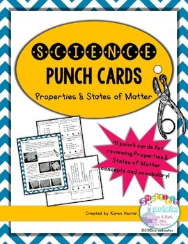 States of Matter: Science Punch Cards