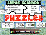 Science Puzzles-Weather,biomes, plants, animals, life cycl