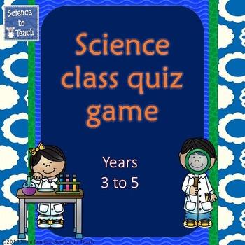 Science Quiz Game 3-5