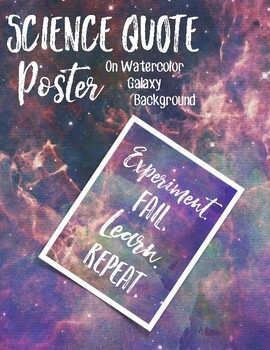 Science Quote Poster #1 - Galaxy Background