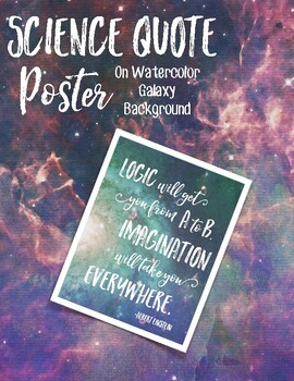 Science Quote Poster #4 - Galaxy Background