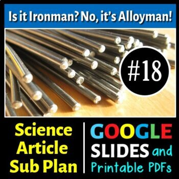 Science Literacy Reading #18- Is it Ironman? No, it's Allo